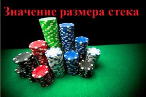 Игра в турнирах в зависимости от размера стека