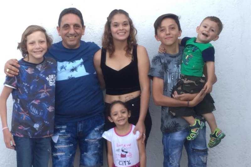 Марсело Дальто со своей семьей