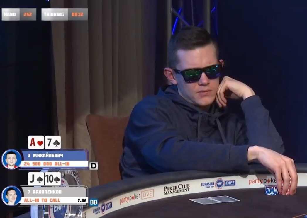 Антон Архипенков раннер-ап Main Event EAPT ($27,615)