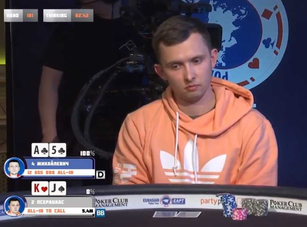 Паулюс Пшерацкас - третье место ($18,410)