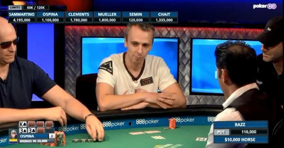 Михаил Семин за финальным столом WSOP 2019
