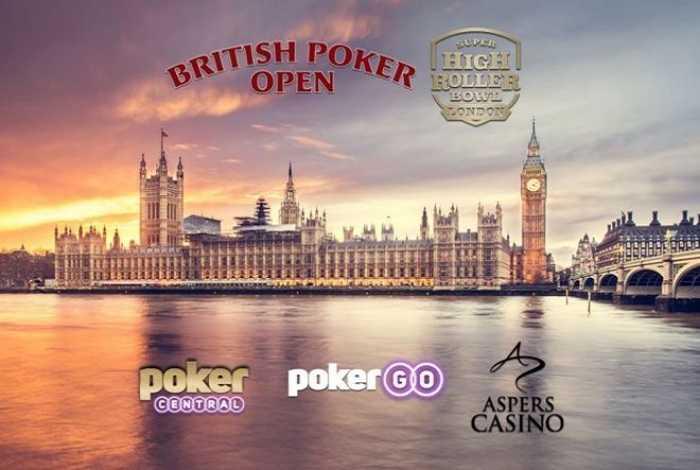 Poker Central впервые проведет British Poker Open и Super High Roller Bowl в Лондоне