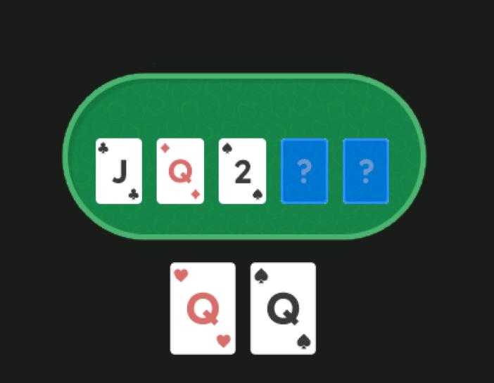 У игрока QQ, на флопе JQ2