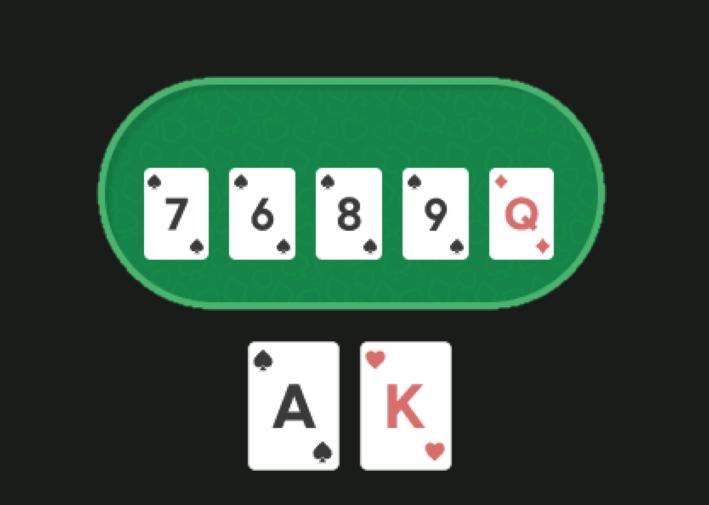 На столе 7689Q, у игрока AK