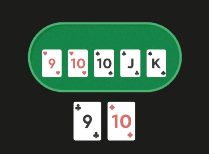 На столе 9TTJK, у игрока T9