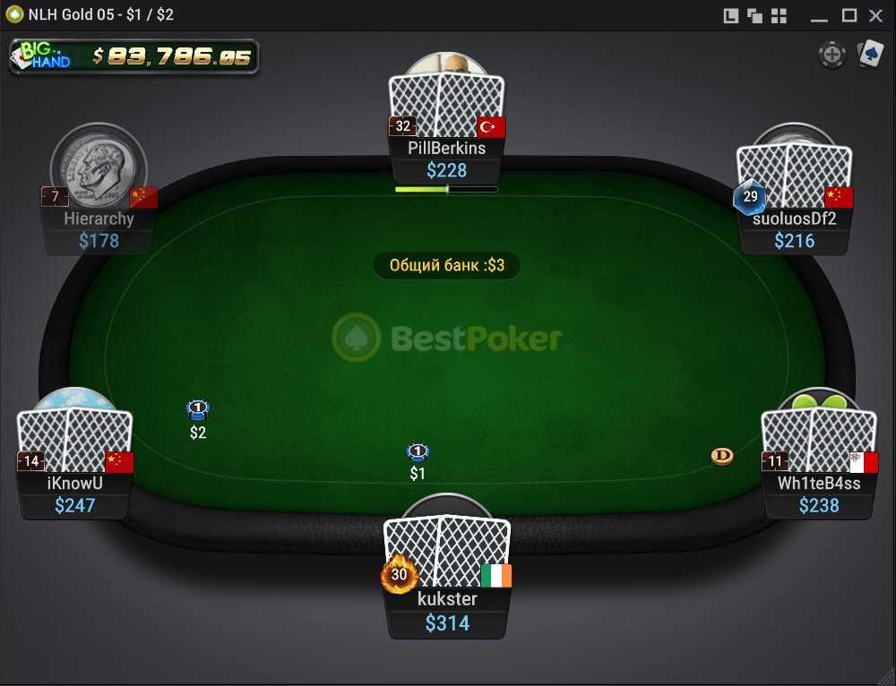 Дизайн стола в Бест покер