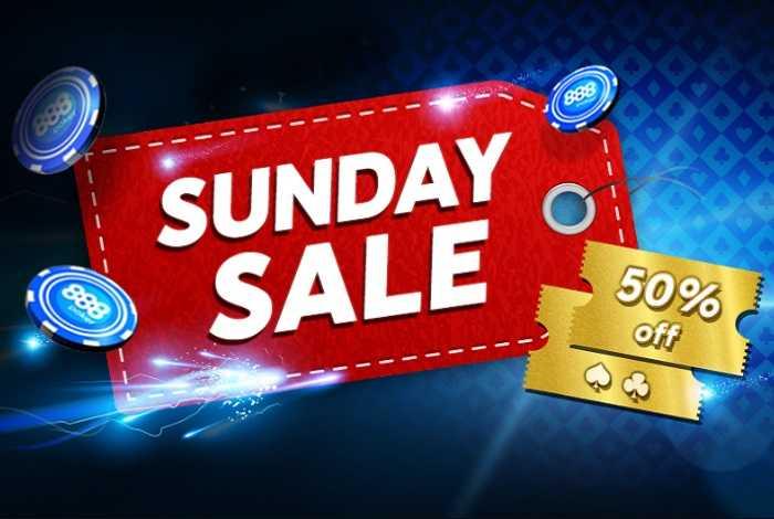 12 июля 888poker проведет Sunday Sale – три турнира за полцены с прямой трансляцией