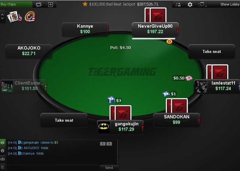 Стол покер-рума