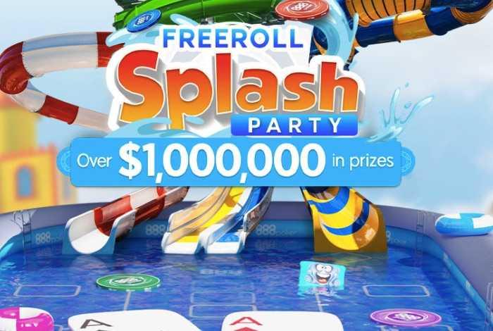 Freeroll Splash Party — серия фрироллов с призами на $1,000,000 на 888poker