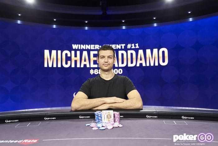 Майкл Аддамо занял первое место в 11-м турнире Poker Masters 2021