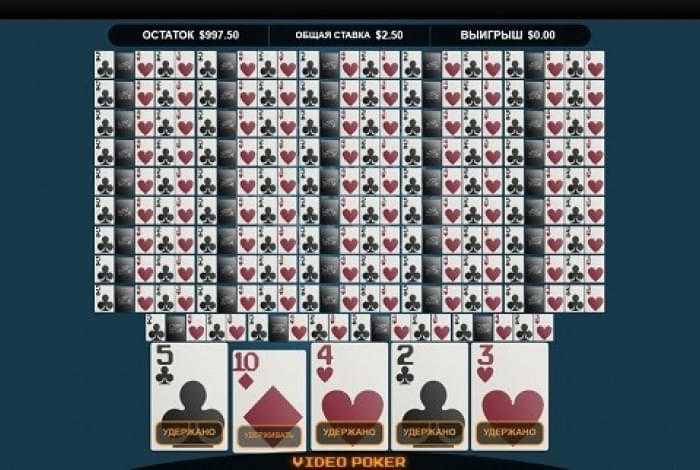 Игровые автоматы с видео покером онлайн
