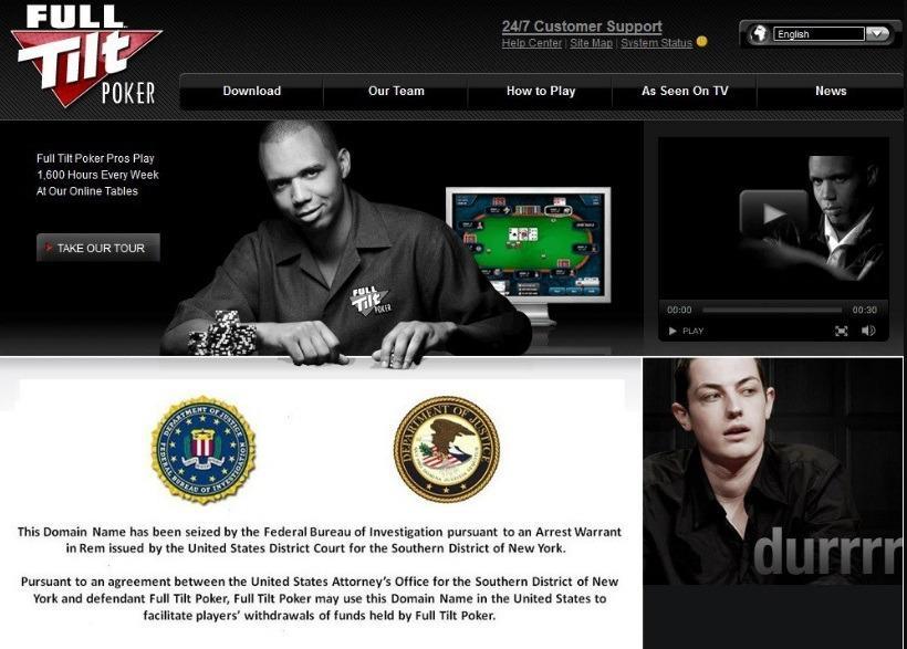Блокировка Full Tilt Poker