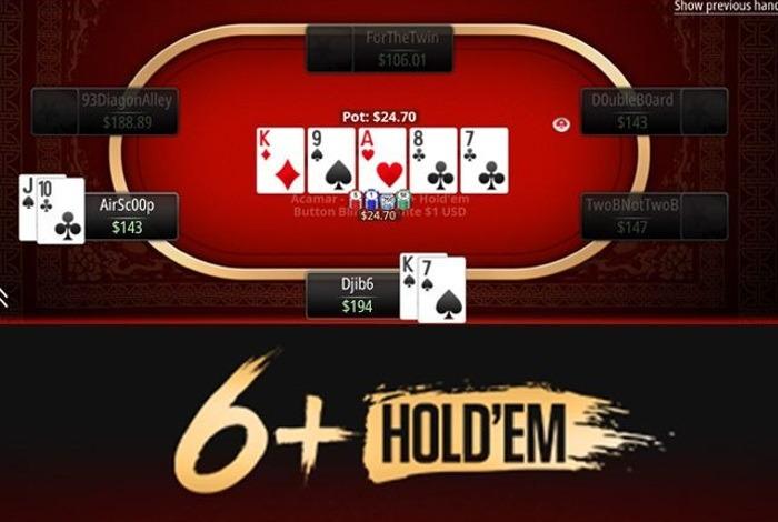 Покерный формат 6+ Holdem появился в лобби PokerStars