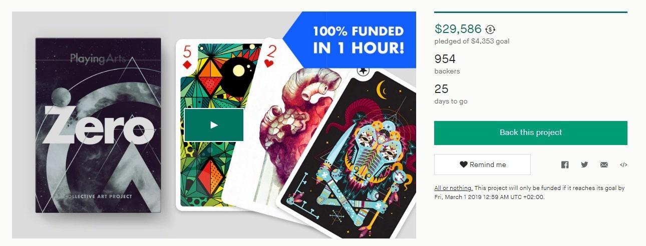 Проект Playing Arts ZERO на Kickstarter